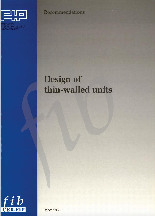 Design of thin-walled units (PDF)